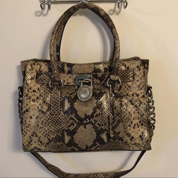 7dc73a1812c70a Michael Kors Bags | Snakeskin Bag | Poshmark